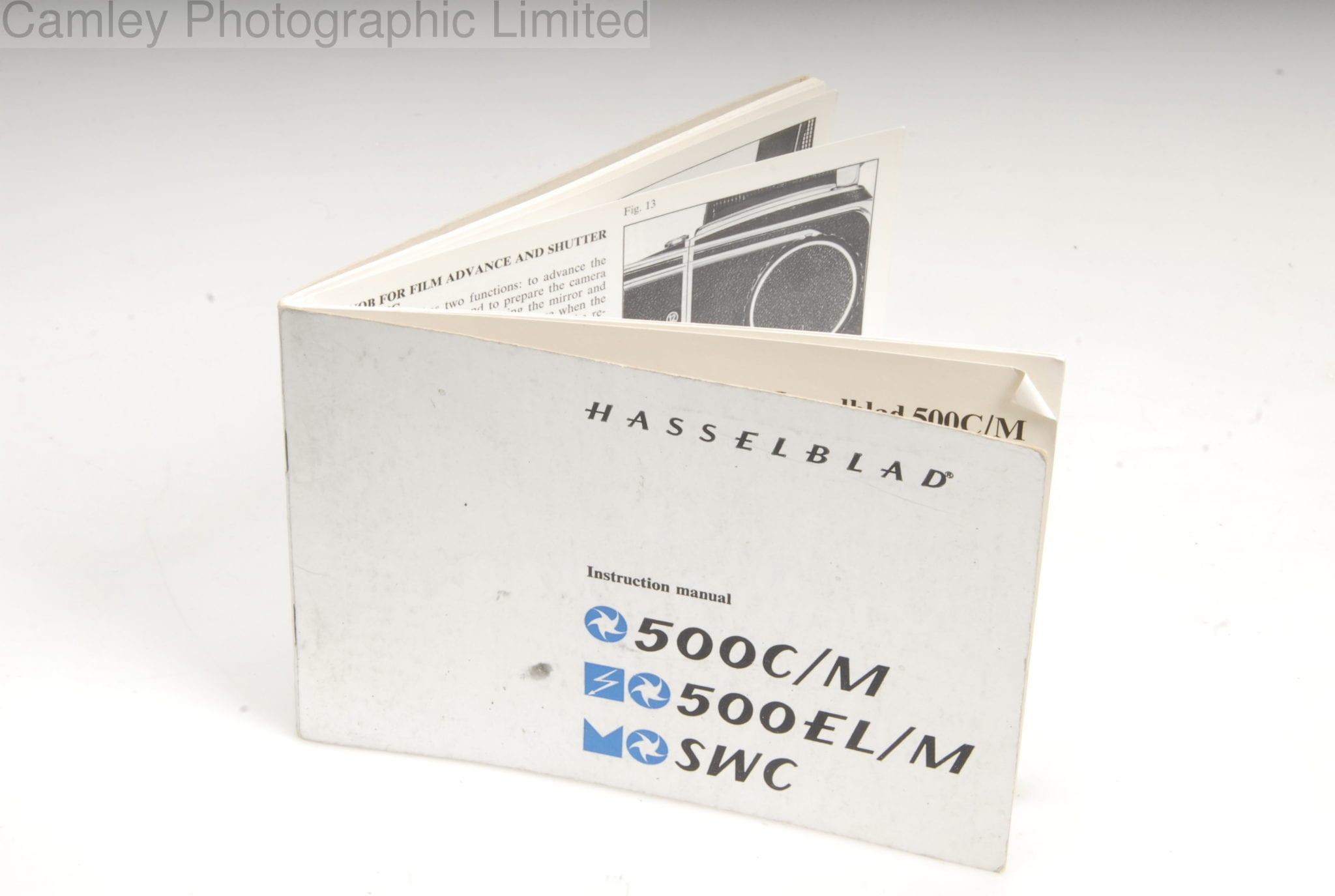 Hasselblad instruction manual 500c