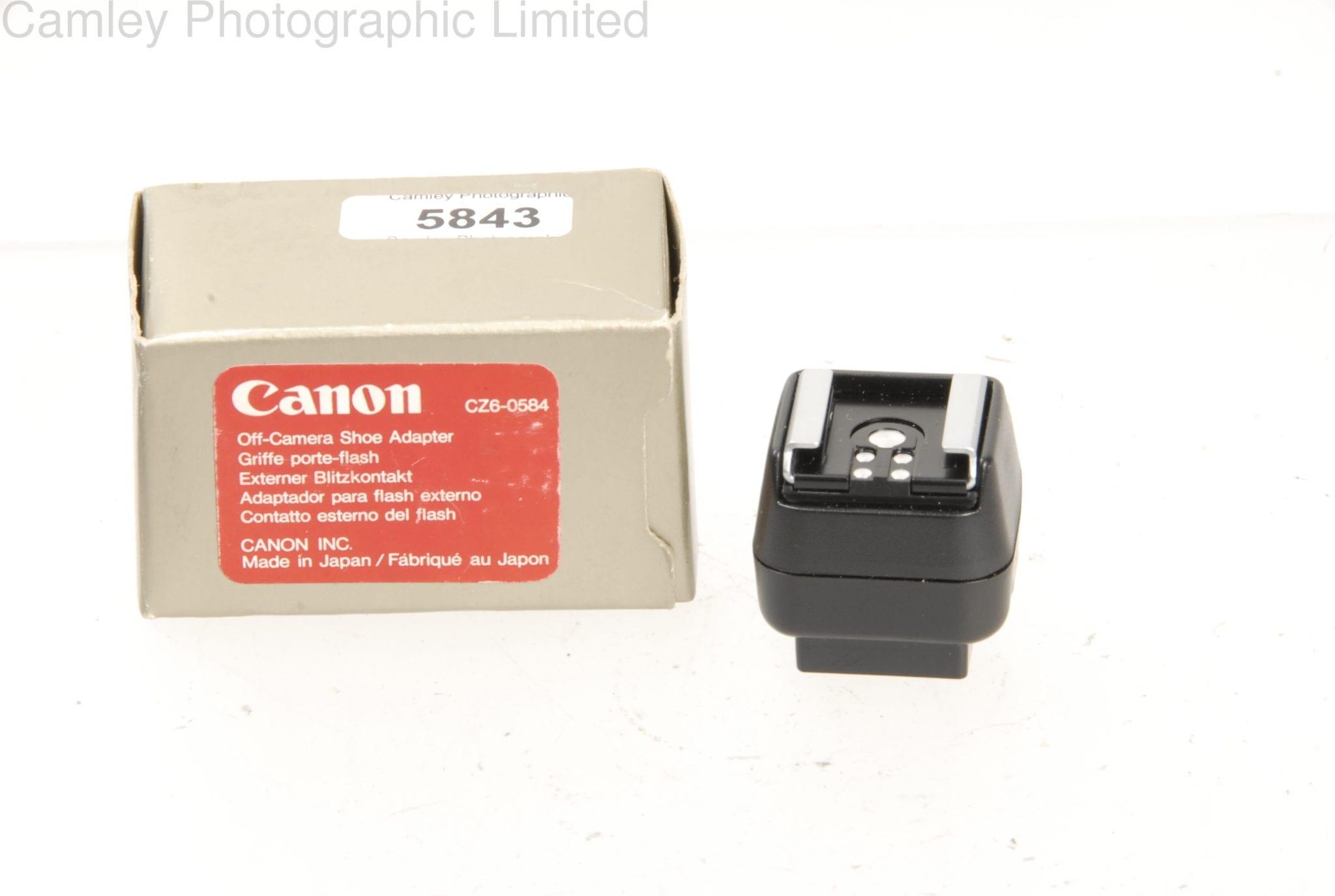 Canon OffCamera Shoe Flash Adapter CZ Condition E - Canon porte
