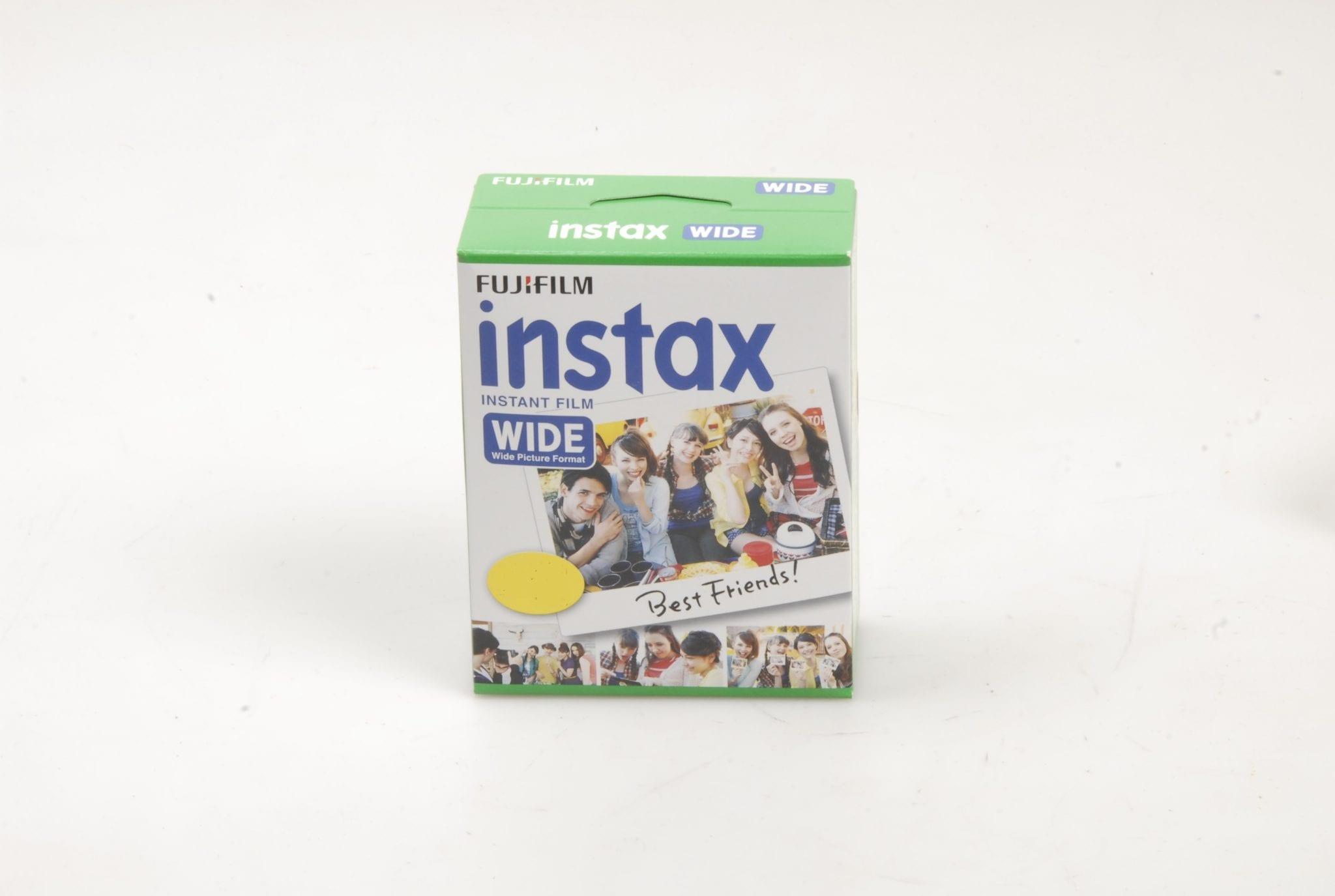 Fujifilm Fuji Instax Wide Instant Film Single 10 Frame Pack 2 Paper
