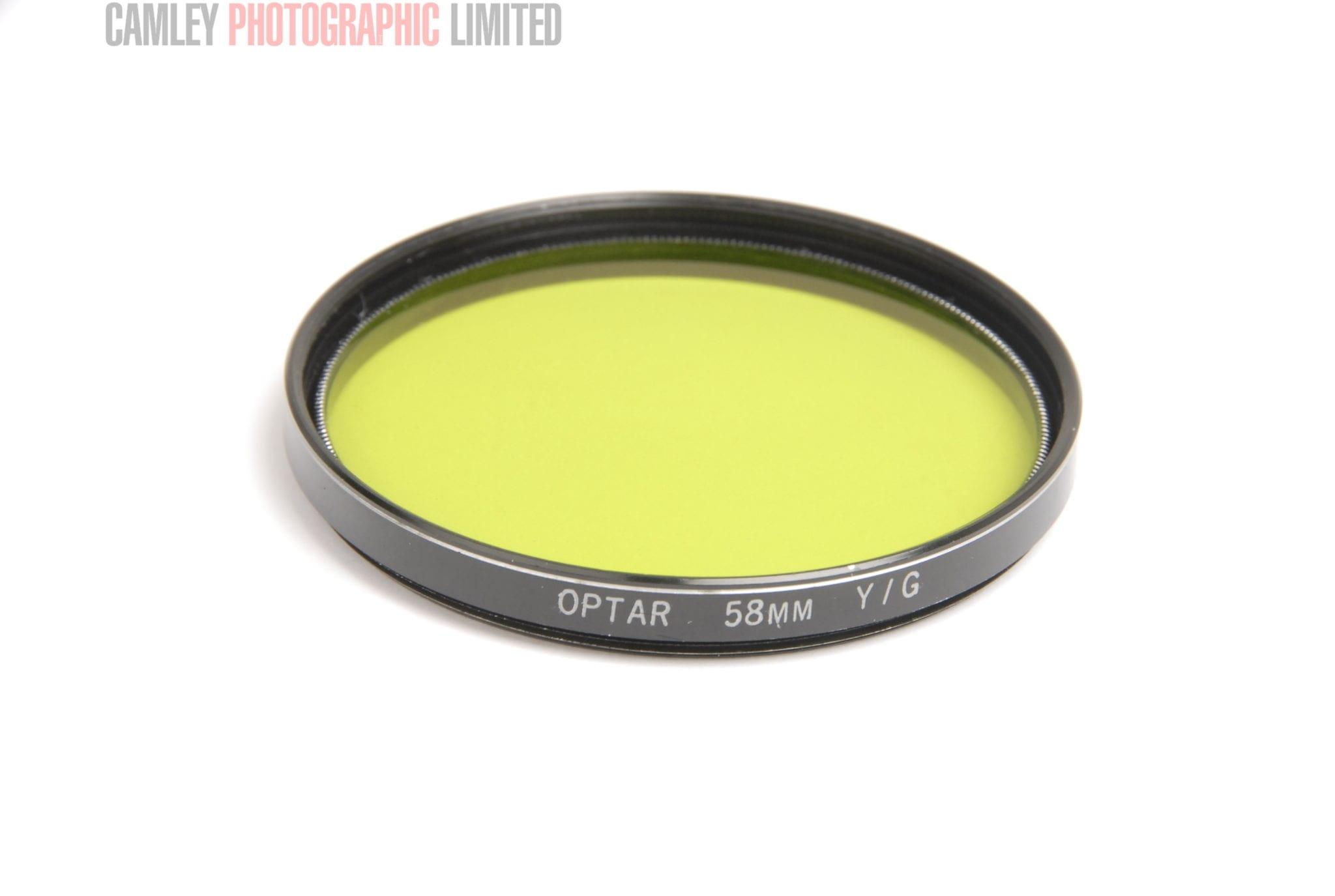 Optar 58mm yellow green filter condition 4e 7963